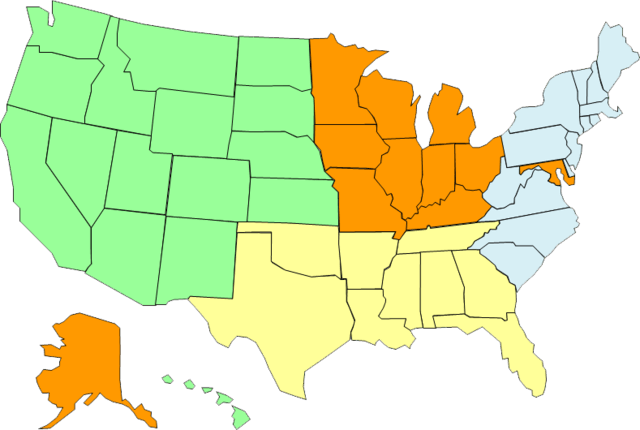 CAA Christian Music Agent Territory Map